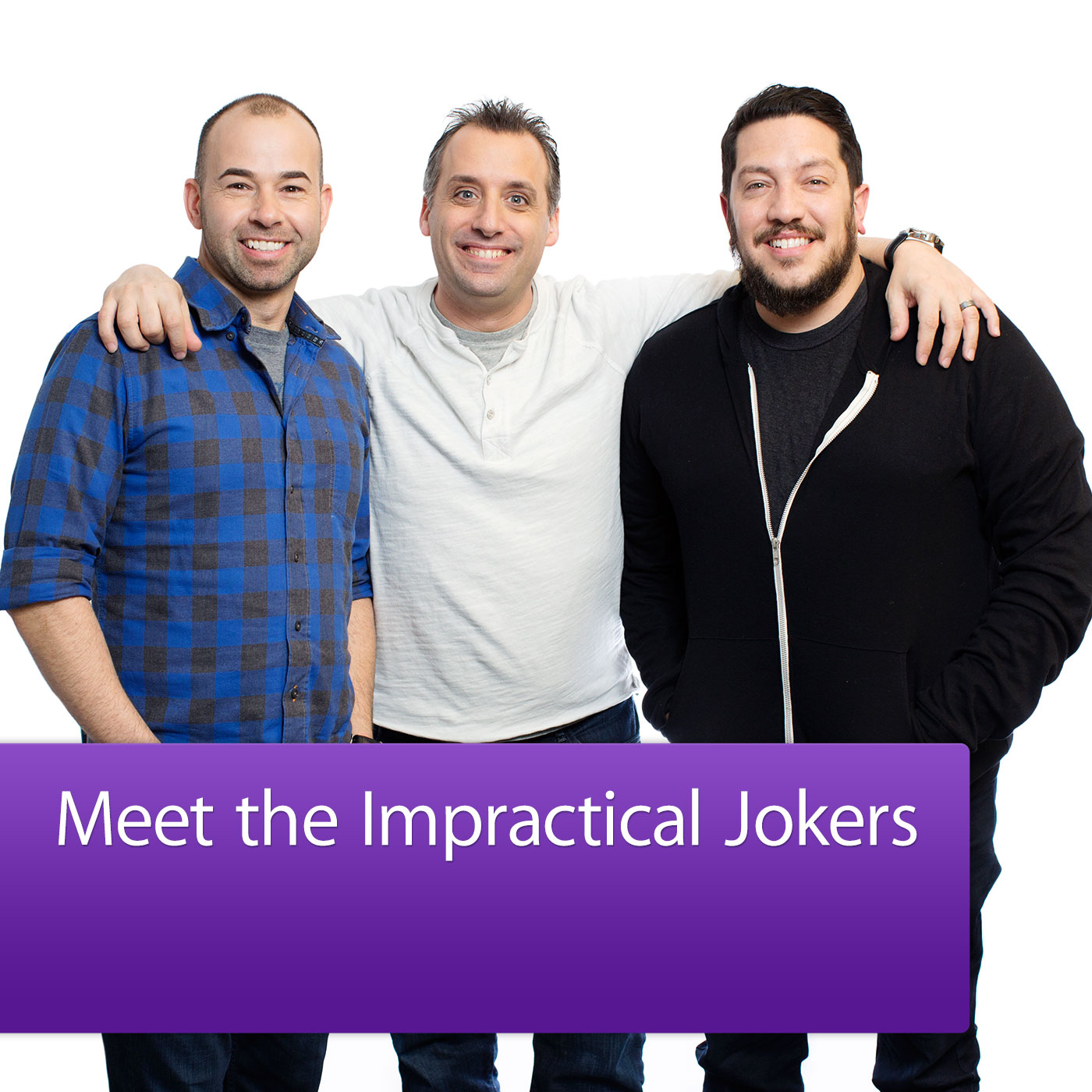 Podfanatic podcast impractical jokers meet the cast impractical jokers meet the cast logo m4hsunfo